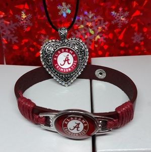 Jewelry - Alabama Crimson Tide Necklace and Bracelet set